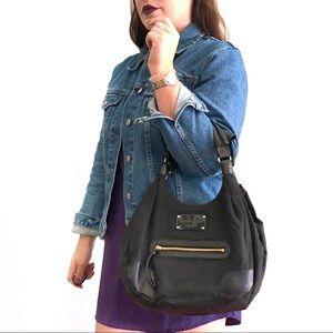 Vintage Kate Spade Nylon Shoulder Bag Purse Black